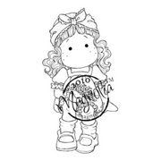 "Cozy Family Cling Stamp 5.5""X3.75"" Package-Cherry Tilda"