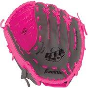 "Franklin Sports 10.5"" PVC Baseball Glove, Pink by Franklin Sports"