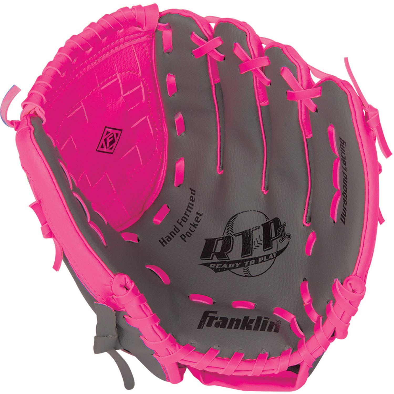 "Franklin Sports 10.5"" PVC Baseball Glove, Pink"