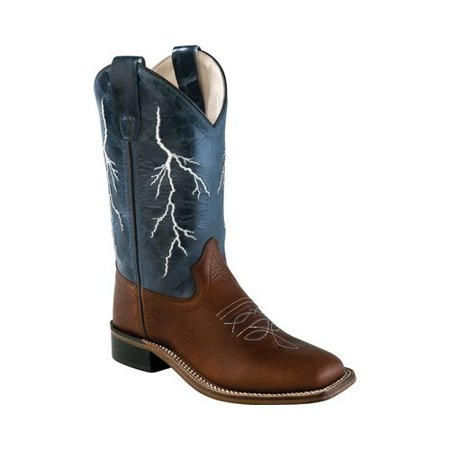 - Children's Old West 9 Inch Broad Square Toe Goodyear Welt Cowboy Boot