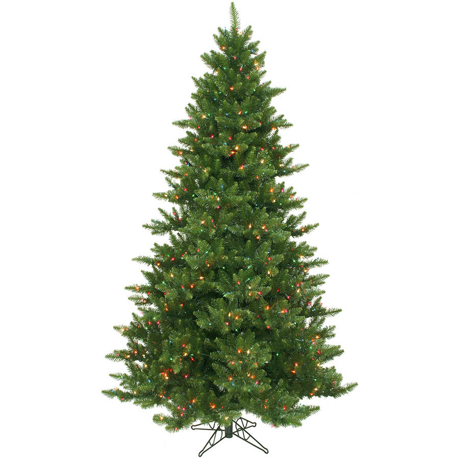 Vickerman 8.5' Camdon Fir Artificial Christmas Tree with 950 Multi-Colored LED Lights