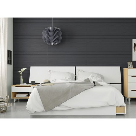 Groovy Scandi 3 Piece Queen Size Bedroom Set Natural Maple And White Walmart Canada Interior Design Ideas Greaswefileorg