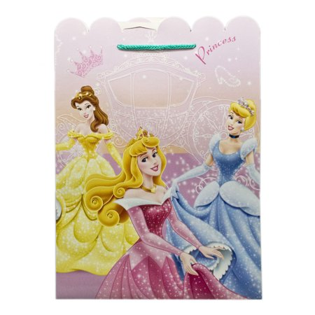 Disney Princess Aurora, Belle, and Cinderella Sparkly Dresses Gift Bag (Cinderella Gifts)