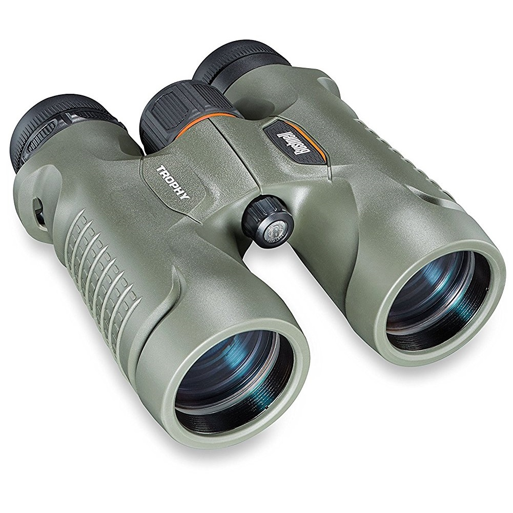 Bushnell Trophy Binoculars 10X42mm, Roof Prism, Green by Bushnell