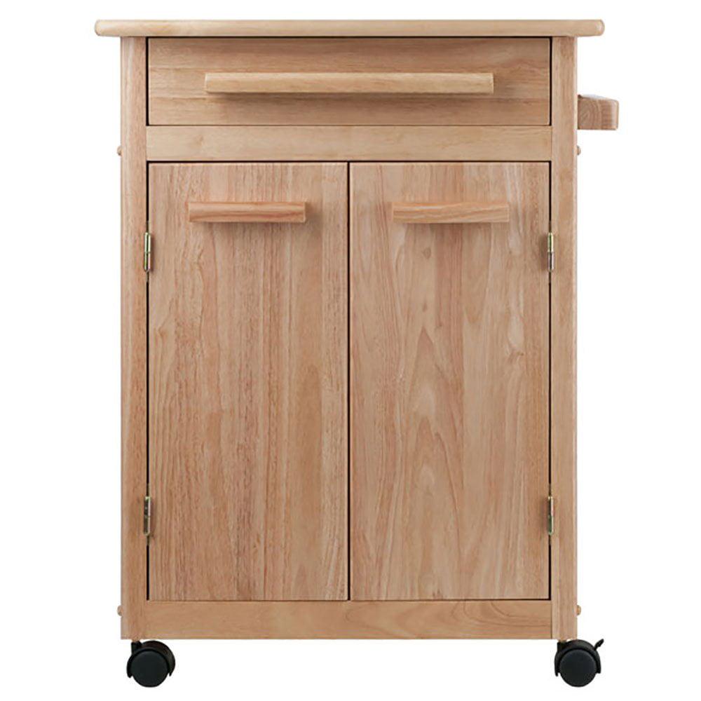 Winsome Wood Hackett Kitchen Storage Cart, Natural Finish