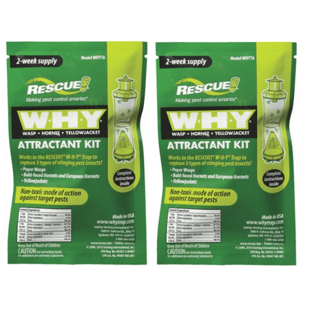 Rescue WHY Trap Kit, for Wasp, Hornet, Yellowjackets (2 pack)