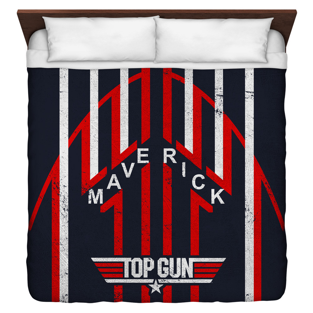 Top Gun Maverick King Duvet Cover White 104X88