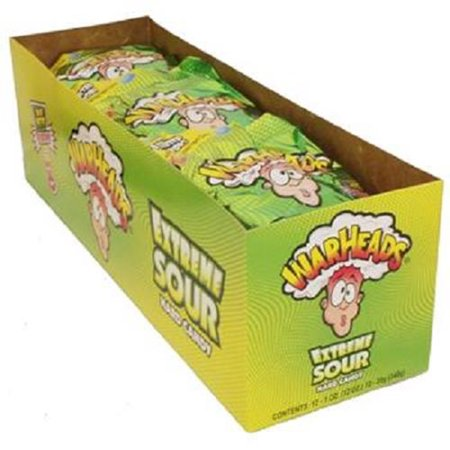 WARHEADS EXTREME SOUR HARD CANDY 1 oz Each ( 12 in a Pack )