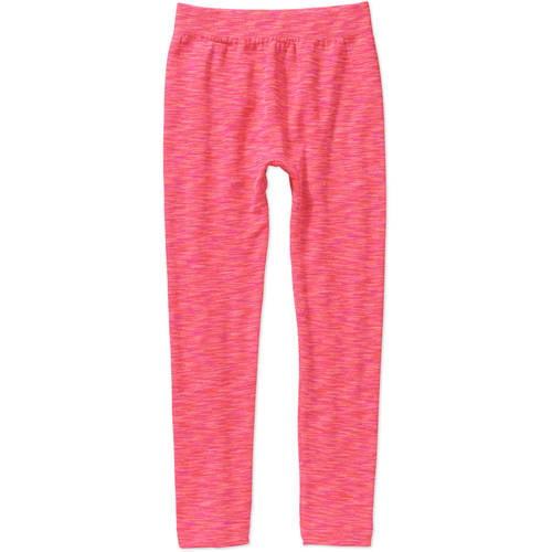 One Step Up Girls' LEGGING Got It Fleece - lined Space Dye Seamless Leggings