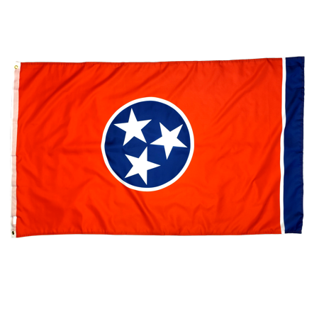 3x5 Foot Tennessee Flag Double Stitched Tennessee State Flag with Brass Grommets | 3 by 5 Foot Premium Indoor Outdoor Polyester Banner | Weather-Resistant (Tennessee State Flag History)