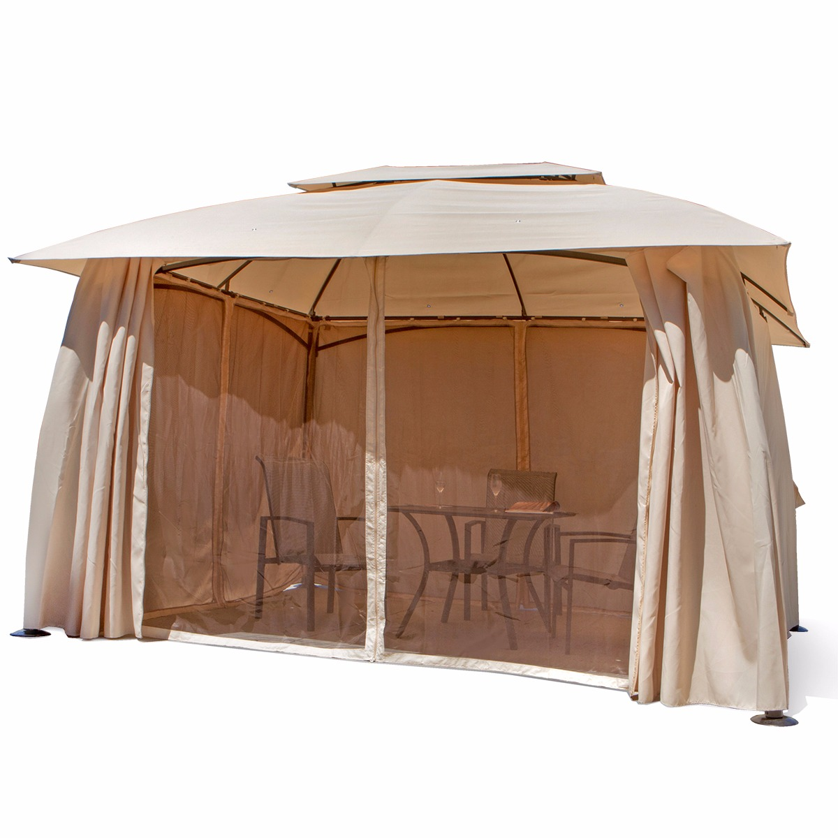 10u0027 x 13u0027 Outdoor Backyard Patio Gazebo Canopy Tent with Netting - Walmart.com  sc 1 st  Walmart.com & 10u0027 x 13u0027 Outdoor Backyard Patio Gazebo Canopy Tent with Netting ...