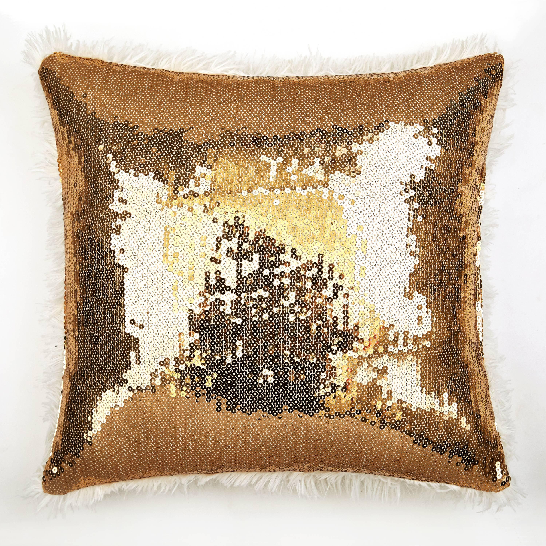 Better Homes & Gardens Kids Sequin & Fur Pillow