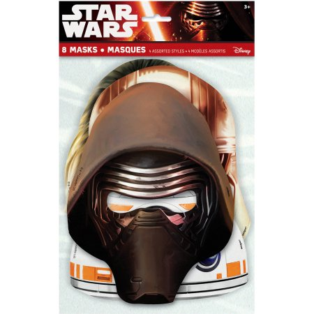 (3 Pack) Star Wars Party Masks, 8-Count