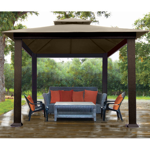 STC Verona 10 Ft. W x 10 Ft. D Metal Permanent Gazebo by STC