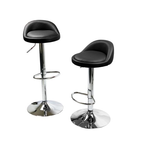 Cool Round Bar Stools Swivel Kitchen Dinning Counter Adjustable Height Barstool Chair Set Of 2 Black Inzonedesignstudio Interior Chair Design Inzonedesignstudiocom
