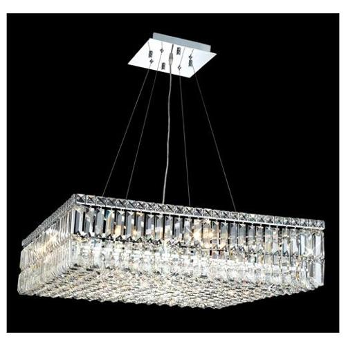 Maxim Clear Crystal Chandelier w 12 Lights in Chrome (Royal Cut)