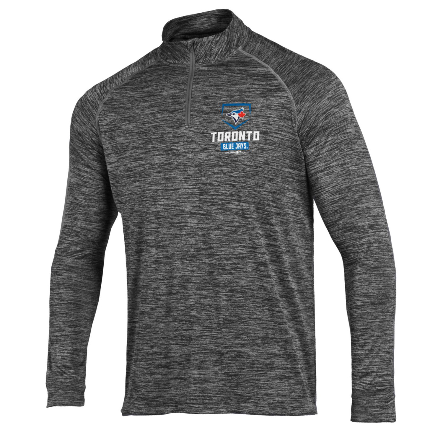 Toronto Blue Jays Under Armour Tech Quarter-Zip Performance Pullover - Charcoal
