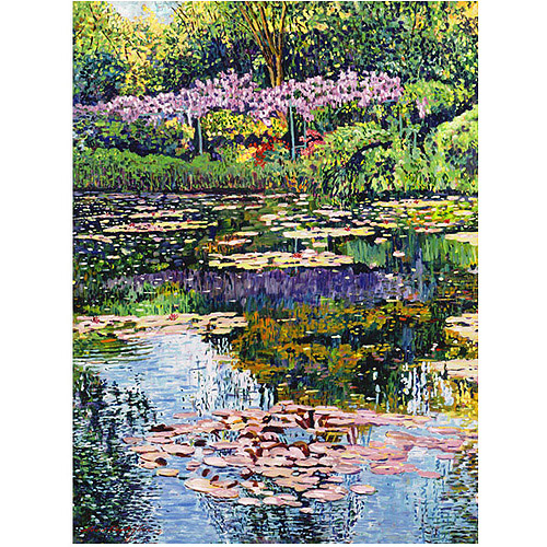 "Trademark Art ""Giverny Reflections"" Canvas Wall Art by David Lloyd Glover"