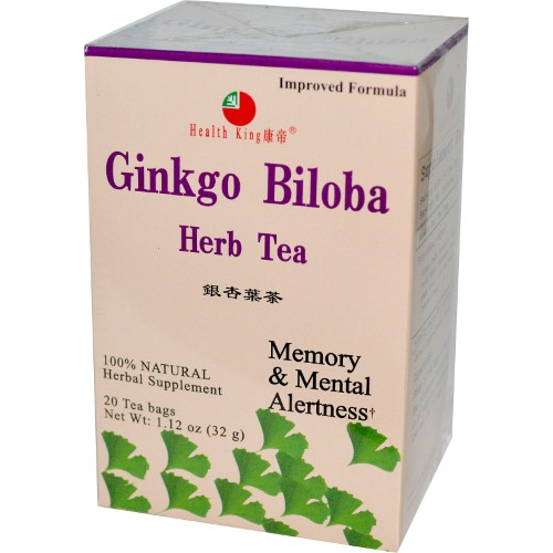 Health King Ginkgo Biloba Tea, 20 Ct