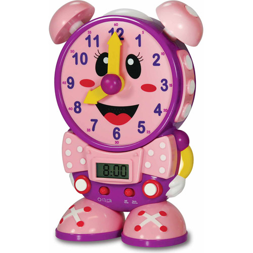 The Learning Journey Telly The Teaching Time Clock, Pink Color Design