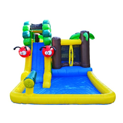 JumpOrange Caterpillar Waterslide and Bounce House by Overstock