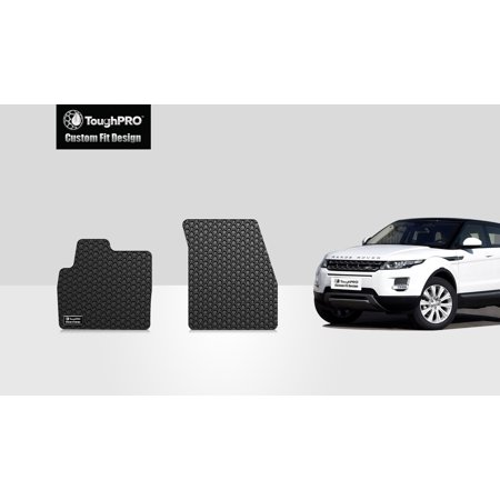 ToughPRO - LAND ROVER / RANGE ROVER Evoque Two Front Mats - All Weather - Heavy Duty - Black Rubber -