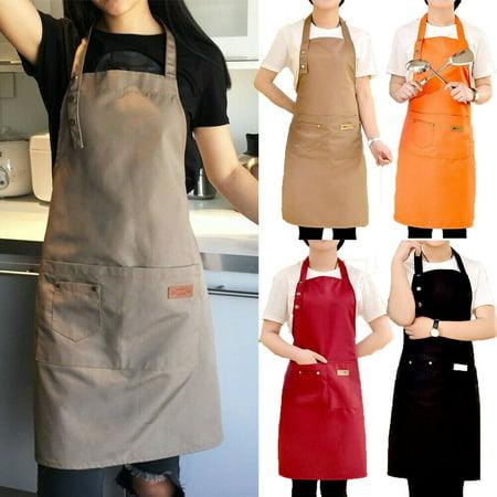 Spaniel Bbq Apron - Denim Canvas Pockets Apron Butcher Crafts Baking Chefs Kitchen Cooking BBQ Plain
