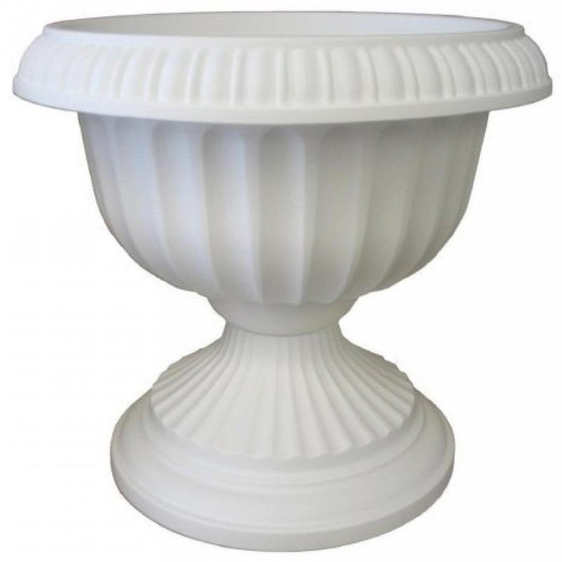 Bloem GU1810-6 6-Pack Grecian Urn, 18-Inch, White by Bloem