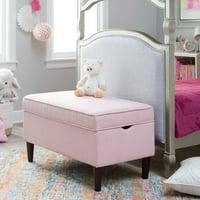 Classic Playtime Hannah Upholstered Storage Bench - Blush
