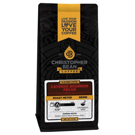 - Cayenne Bourbon Pecan Flavored Whole Bean Coffee, 12 Ounce Bag