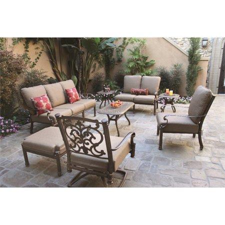 Darlee Santa Barbara 8 Piece Patio Sofa Set with Cushion