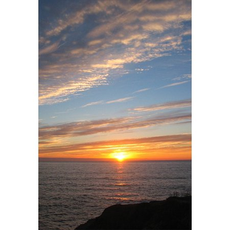 Canvas Print Clouds Sunset San Diego Cloud Sky California Stretched Canvas 10 x 14 ()