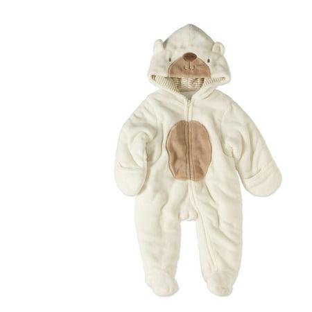 65b7e47e9 Quiltex - Newborn Baby Boy or Girl Unisex Fleece Critter Snowsuit ...