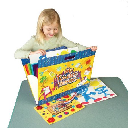 CP Toys My Timeless Treasures Art Portfolio and Carrying Case - Protect Your Child's Artwork - Includes 10 Laminated Color-Coded Pockets - Great for Transportation
