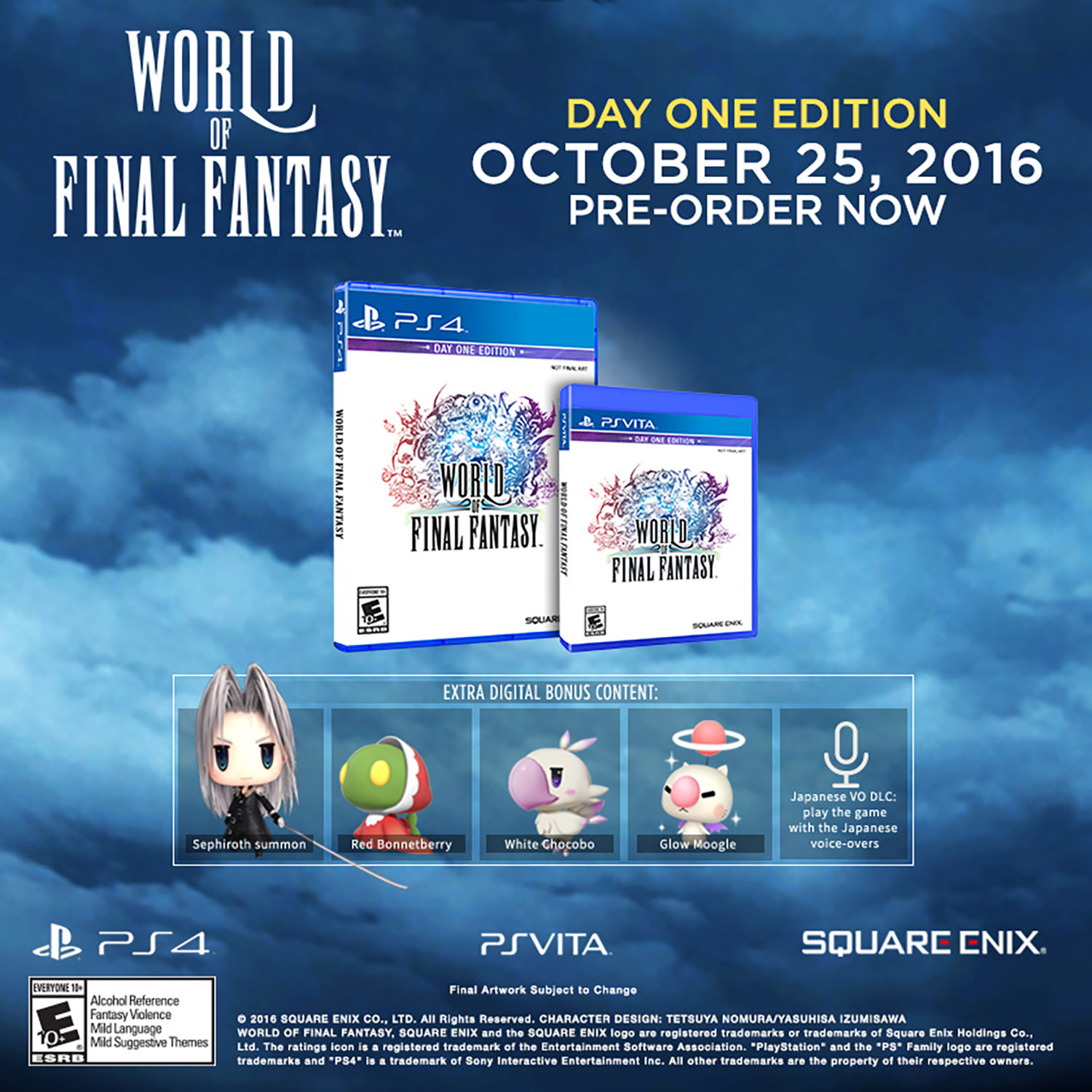 World of Final Fantasy, Square Enix, PlayStation Vita, REFURBISHED/PREOWNED