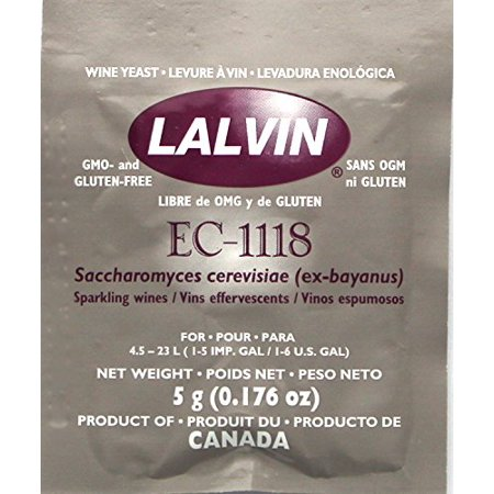 B008RZZMQC Ec-1118 Saccharomyces Bayanus 3 (5 G. Pouchs), Multicolor, Eco - 1118 wine yeast; 5 g. Pouch - set of 3; recommended for all types of.., By SocalHomeBrew Ship from (Best Yeast For Distilling)