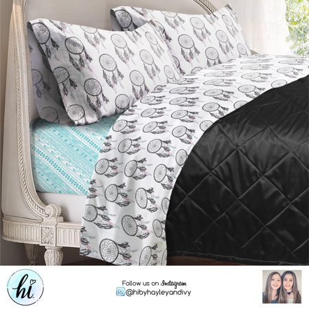 'Hi' Kids Printed Mix-and-Match Bed Sheets Set, Multiple Colors
