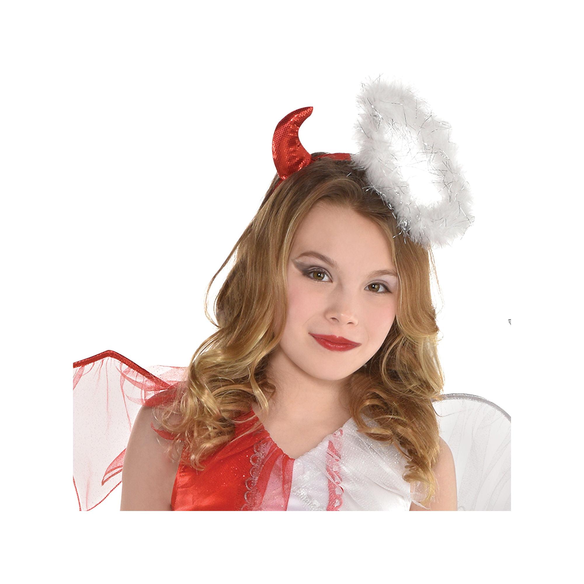 Naughty Nice Girls Child Half Angel Half Demon Devil Halloween Costume Walmart Com Walmart Com
