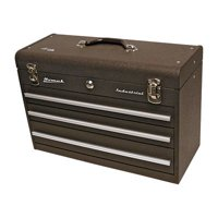 Homak Industrial 20-Inch 3-Drawer Friction Toolbox, Brown Wrinkle Powder Coat, BW00203200