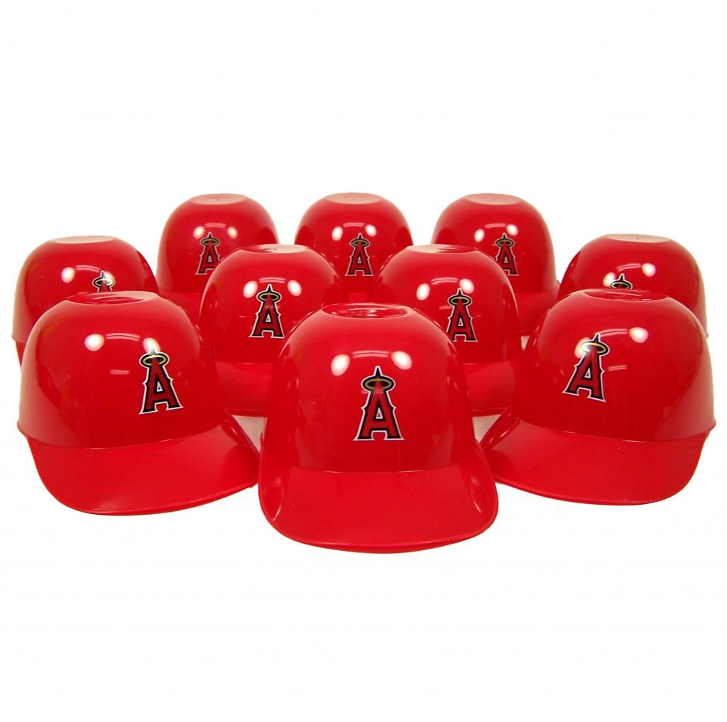Los Angeles Angels Official MLB 8oz Mini Baseball Helmet Ice Cream Snack Bowls (10) by Rawlings