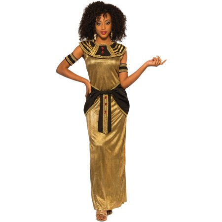 Women's Golden Egyptian Princess Goddess Dress - Simple Egyptian Costume