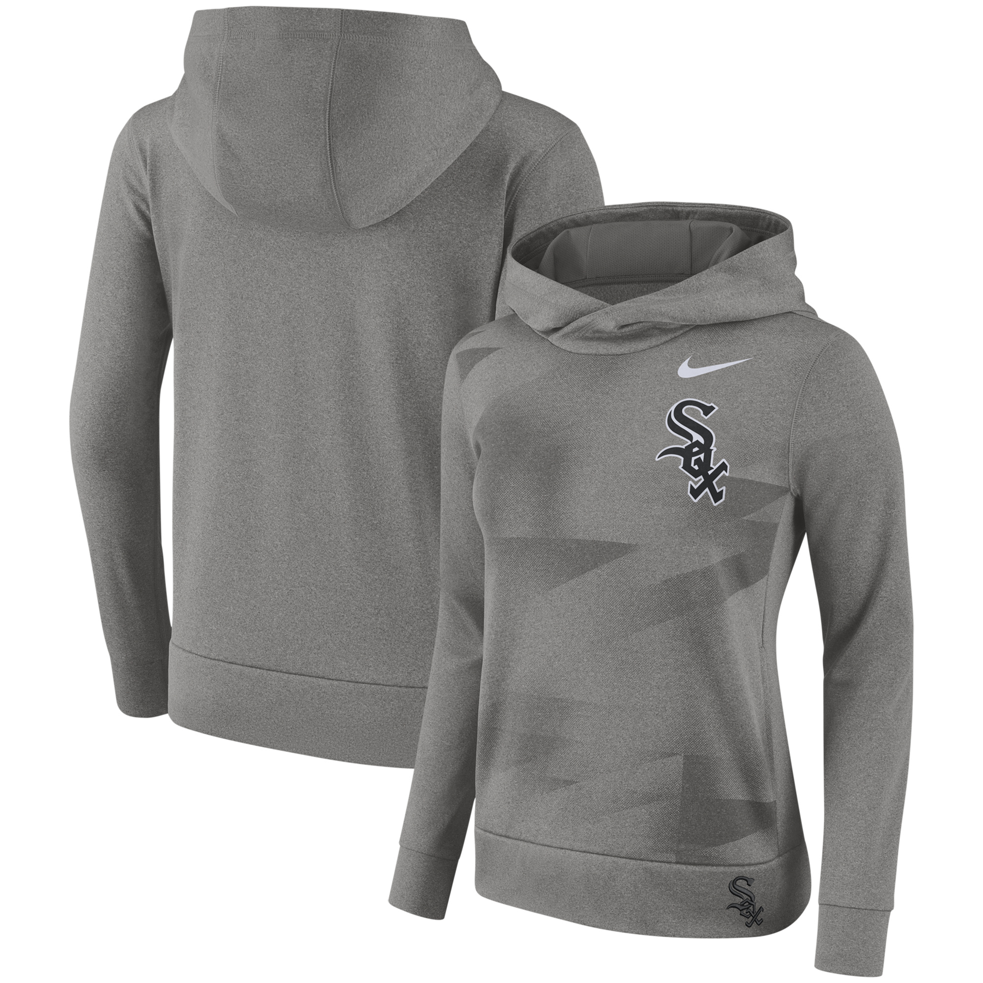 Chicago White Sox Nike Women's Performance Pullover Hoodie - Gray