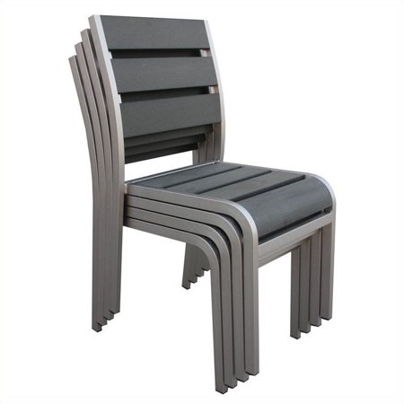 Boraam Fresca Side Chair in Solid Brushed Aluminum (Set of 4) - image 2 of 9