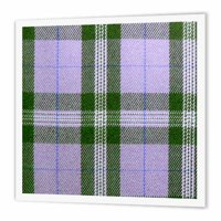 3dRose Blue tartan pattern - preppy plaid black flannel checkered fashionable trendy check checks checked, Iron On Heat Transfer, 6 by 6-inch, For White Material
