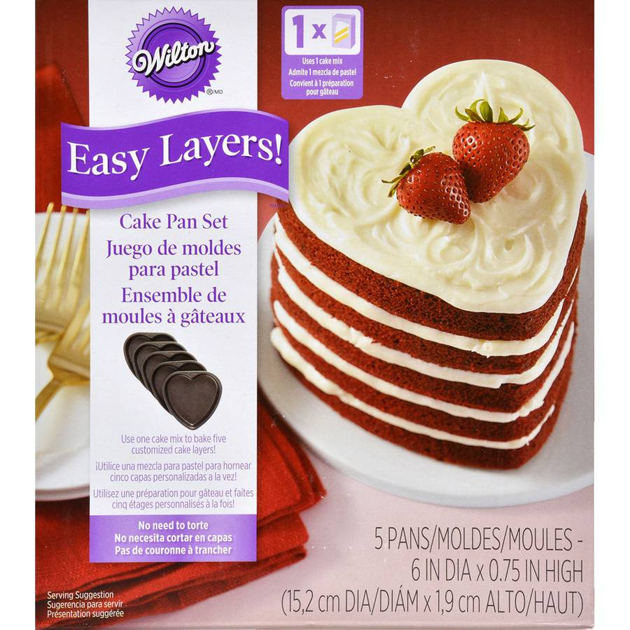 Easy Layers! Cake Pan, Heart by Wilton