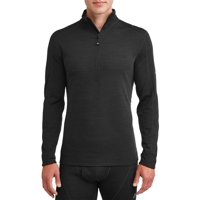 Ozark Trail Men's Wool Blend Half Zip Thermal Baselayer Pullover