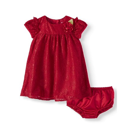 Holiday Short Sleeve Lace Special Occasion Dress (Baby - Personalized Infant Dresses