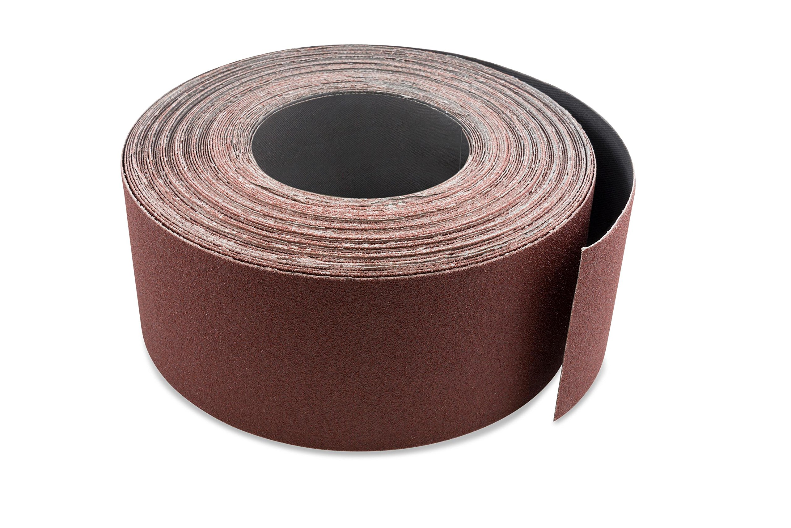 3 Inch X 70 FT Aluminum Oxide Ready-to-Cut Cloth Sanding Roll for Drum Sanders by Red Label Abrasives