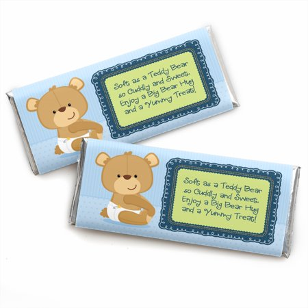 Boy Baby Teddy Bear - Candy Bar Wrappers Baby Shower Favors - Set of (Boy Candy Wrappers)