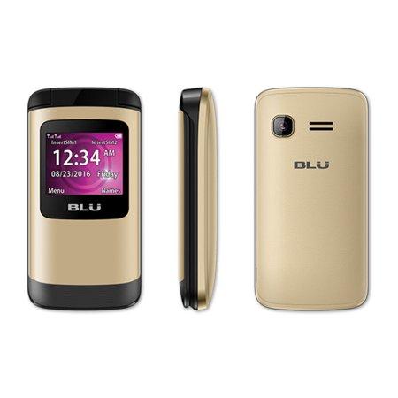 BLU Zoey Flex Factory Unlocked GSM Phone FM Radio Dual SIM Z130 Gold (Blu Dual Sim Phones Unlocked)